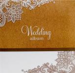 Svatební fotoalbum na fotolepky - natur s ornamentem - velké