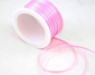 Saténová stuha 3mm - sv.růžová - 1m