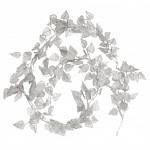 Girlanda bříza zimní - stříbrná glitr - 100 cm