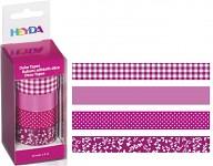 Lepicí pásky dekorační - růžový mix