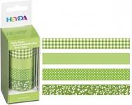 Lepicí pásky dekorační - zelený mix