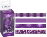 Lepicí pásky dekorační - fialový mix