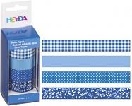 Lepicí pásky dekorační - modrý mix