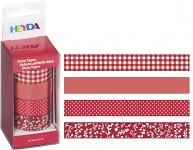 Lepicí pásky dekorační - červený mix