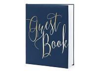 Svatební kniha hostů - Guest book modrá