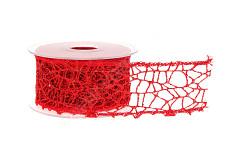 Stuha stahovací s lurexem - stříbrná - 1m