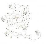Světelná girlanda - motýlci s perličkami - 150 cm