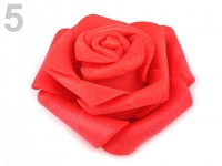 Růžička velká pěnová - červená - 1ks