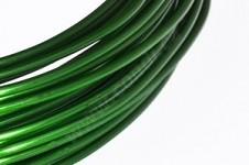 Hliníkový dekorační drátek 2 mm/5m - tm.zelený