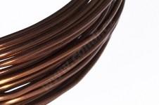Hliníkový dekorační drátek 2 mm/5m - hnědý
