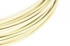Hliníkový dekorační drátek 2 mm/5m - pastelově krémový