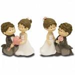 Figurka svatební v pokleku