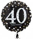 Foliový balonek - happy birthday - 40