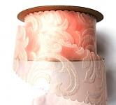 Vlizelínová stuha vintage 4cm/9m - lososová