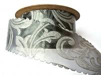 Vlizelínová stuha vintage 4cm/9m - šedá