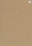 Tvrdý grafický papír - natur hnědý s ražbou - A4