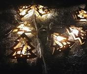 LEd světelná girlanda vánoční - dřevěné stromečky