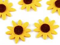 Filcové slunečnice - 5 ks