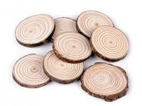 Dřevěné kolečko závěs - výřez hvězdička