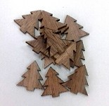 Dřevěné stromečky natur - 12 ks