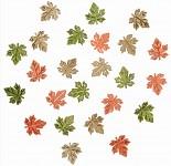 Dřevěné lístečky mini podzimní mix - 24ks
