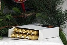 Stromečkové svíčky - zlaté - 12ks