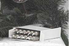 Stromečkové svíčky - stříbrné - 12ks
