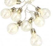 Světelný řetěz - žárovky - teplá bílá - 12,5 m