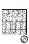 Kapesníček pánský do saka - bílo-černé puzzle
