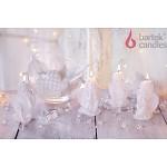 Svíčka - anděl sedící bílý - mix
