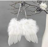 Andělská křídla závěs 19 cm - bílá