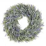 Věneček umělá levandule - 30 cm