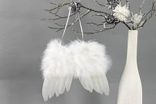 Andělská křídla závěs 13 cm - bílá
