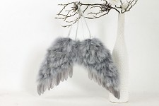Andělská křídla 40x30 cm - šedá