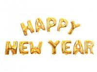 Foliový nápis zlatý - HAPPY NEW YEAR