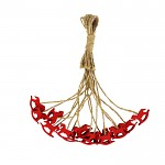 Koník dřevěný mini červený - na provázku 1ks