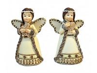 Dřevěný andílek bílý - výřez hvězdička