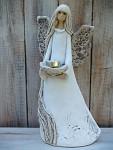 Anděl masiv stojící - svícen