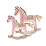 Houpací koník retro - růžový velký