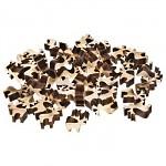 Dřevěné ozdoby - sobi natur - 12ks