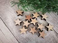 Dřevěné ozdoby - hvězdičky natur - 12ks