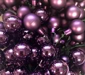 Baňky na drátku fialové 25mm - 1ks - matné