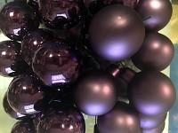Baňky na drátku fialové 40mm - 1ks - matné
