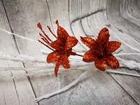 Lilie glitr - zápich - měděná