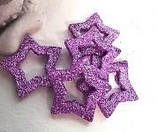 Hvězda dutá - sv.fialová glitter