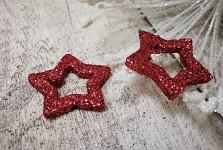 Hvězda dutá - marsala glitter