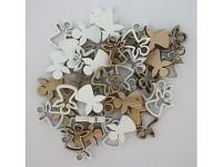 Dřevění andílci 3 cm - 6 ks