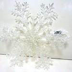 Závěsná dekorace - vločka třpytivá 20 cm