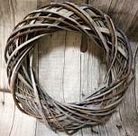 Věnec šedo-hnědý hrubý - 30 cm