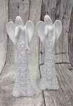 Anděl květinový bílý - 16 cm